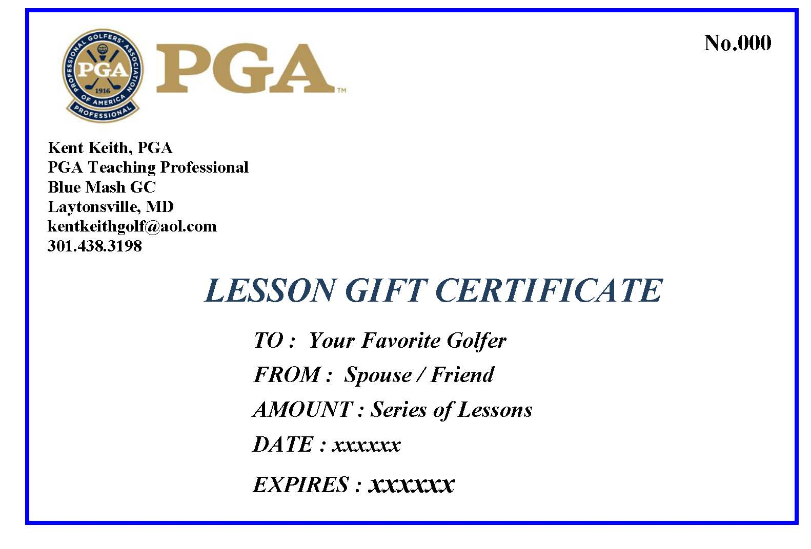 Gift Certificates | Swing The Club