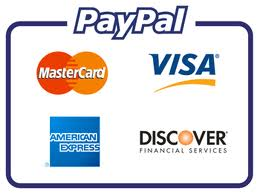 Paypal accepts all major credit cards